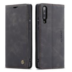 CaseMe - Samsung Galaxy A70 hoesje - Wallet Book Case - Magneetsluiting - Zwart