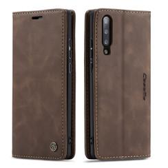CaseMe - Samsung Galaxy A70 hoesje - Wallet Book Case - Magneetsluiting - Donker Bruin