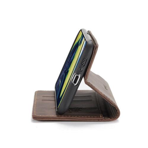 CaseMe CaseMe - Samsung Galaxy A80 hoesje - Wallet Book Case - Magneetsluiting - Donker Bruin