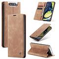 CaseMe CaseMe - Samsung Galaxy A80 hoesje - Wallet Book Case - Magneetsluiting - Licht Bruin