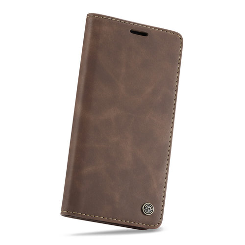 CaseMe CaseMe - Samsung Galaxy A20e hoesje - Wallet Book Case - Magneetsluiting - Donker Bruin