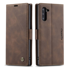CaseMe - Samsung Galaxy Note 10 hoesje - Wallet Book Case - Magneetsluiting - Donker Bruin