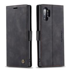 CaseMe - Samsung Galaxy Note 10 Plus hoesje - Wallet Book Case - Magneetsluiting - Zwart