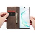 CaseMe CaseMe - Samsung Galaxy Note 10 Plus hoesje - Wallet Book Case - Magneetsluiting - Donker Bruin