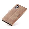CaseMe CaseMe - Samsung Galaxy Note 10 Plus hoesje - Wallet Book Case - Magneetsluiting - Licht Bruin