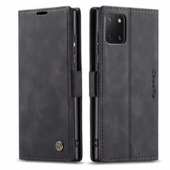 CaseMe - Samsung Galaxy Note 10 Lite hoesje - Wallet Book Case - Magneetsluiting - Zwart
