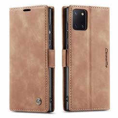 CaseMe - Samsung Galaxy Note 10 Lite hoesje - Wallet Book Case - Magneetsluiting - Licht Bruin
