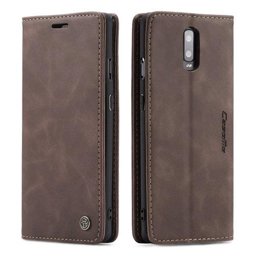 CaseMe CaseMe - OnePlus 7 hoesje - Wallet Book Case - Magneetsluiting - Donker Bruin