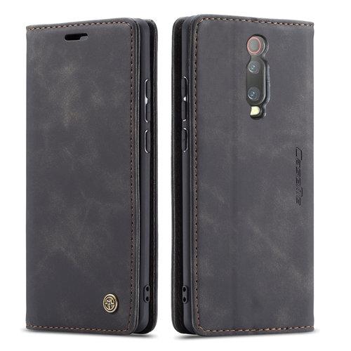 CaseMe CaseMe - Xiaomi Mi 9T hoesje - Wallet Book Case - Magneetsluiting - Zwart
