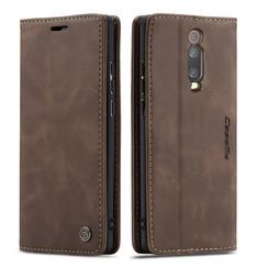 CaseMe - Xiaomi Mi 9T hoesje - Wallet Book Case - Magneetsluiting - Donker Bruin