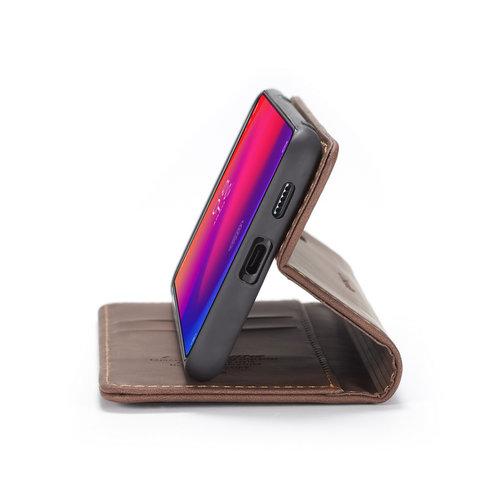 CaseMe CaseMe - Xiaomi Mi 9T hoesje - Wallet Book Case - Magneetsluiting - Donker Bruin