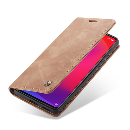 CaseMe CaseMe - Xiaomi Mi 9T hoesje - Wallet Book Case - Magneetsluiting - Licht Bruin