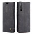 CaseMe CaseMe - Xiaomi Mi 9 hoesje - Wallet Book Case - Magneetsluiting - Zwart