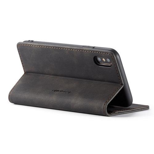 CaseMe CaseMe - iPhone X/XS hoesje - Wallet Book Case - Magneetsluiting - Zwart