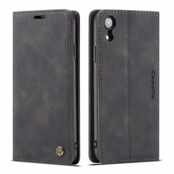 CaseMe - iPhone XR hoesje - Wallet Book Case - Magneetsluiting - Zwart