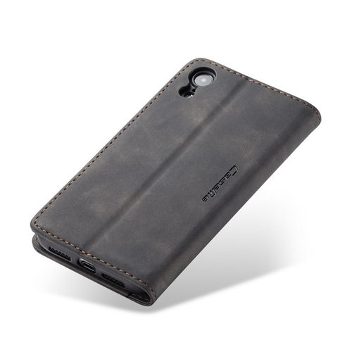 CaseMe CaseMe - iPhone XR hoesje - Wallet Book Case - Magneetsluiting - Zwart