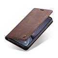 CaseMe CaseMe - iPhone XR hoesje - Wallet Book Case - Magneetsluiting - Donker Bruin