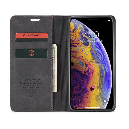 CaseMe CaseMe - iPhone Xs Max hoesje - Wallet Book Case - Magneetsluiting - Zwart