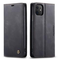 CaseMe - iPhone 11 hoesje - Wallet Book Case - Magneetsluiting - Zwart