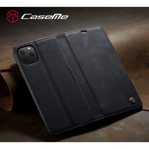 CaseMe CaseMe - iPhone 11 Pro hoesje - Wallet Book Case - Magneetsluiting - Zwart