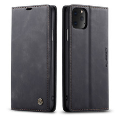 CaseMe - iPhone 11 Pro Max hoesje - Wallet Book Case - Magneetsluiting - Zwart