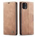 CaseMe CaseMe - iPhone 11 Pro Max hoesje - Wallet Book Case - Magneetsluiting - Licht Bruin