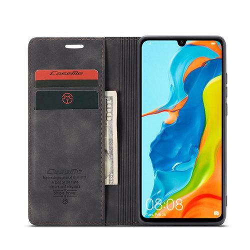 CaseMe CaseMe - Huawei P30 Lite hoesje - Wallet Book Case - Magneetsluiting - Zwart
