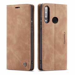 CaseMe - Huawei P30 Lite hoesje - Wallet Book Case - Magneetsluiting - Licht Bruin