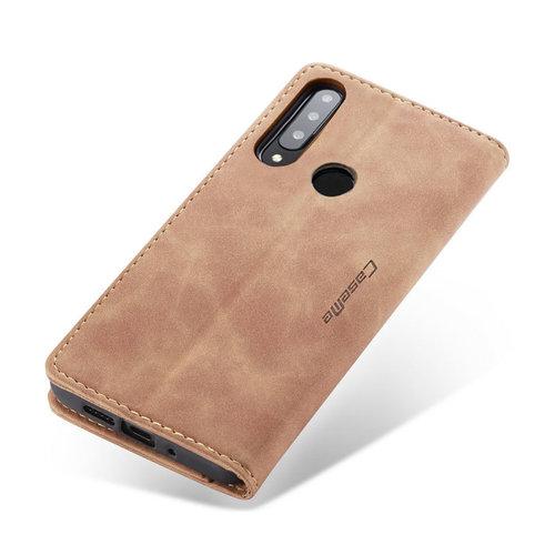 CaseMe CaseMe - Huawei P30 Lite hoesje - Wallet Book Case - Magneetsluiting - Licht Bruin