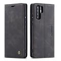 CaseMe CaseMe - Huawei P30 Pro hoesje - Wallet Book Case - Magneetsluiting - Zwart