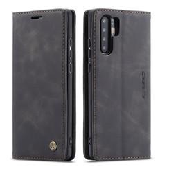 CaseMe - Huawei P30 Pro hoesje - Wallet Book Case - Magneetsluiting - Zwart