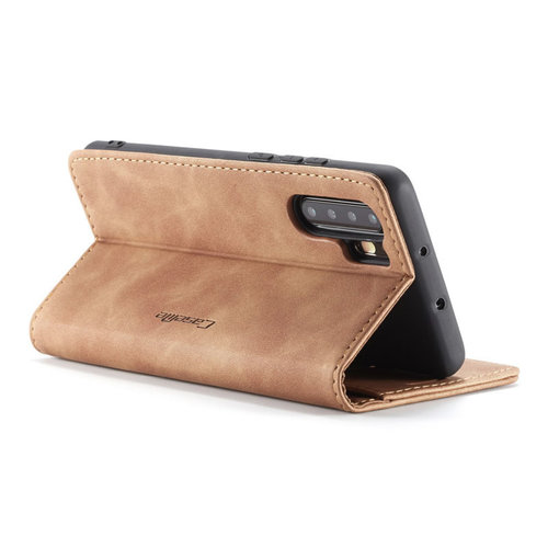 CaseMe CaseMe - Huawei P30 Pro hoesje - Wallet Book Case - Magneetsluiting - Licht Bruin