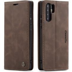 CaseMe - Huawei P30 Pro hoesje - Wallet Book Case - Magneetsluiting - Donker Bruin