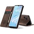 CaseMe CaseMe - Huawei P30 Pro hoesje - Wallet Book Case - Magneetsluiting - Donker Bruin