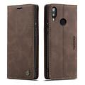 CaseMe CaseMe - Huawei P Smart (2019) hoesje - Wallet Book Case - Magneetsluiting - Donker Bruin