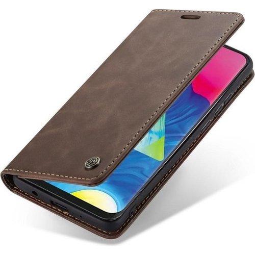 CaseMe CaseMe - Samsung Galaxy A10 hoesje - Wallet Book Case - Magneetsluiting - Donker Bruin