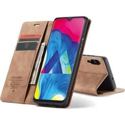 CaseMe - Samsung Galaxy A10 hoesje - Wallet Book Case - Magneetsluiting - Licht Bruin