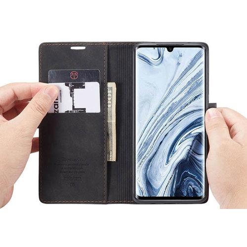 CaseMe CaseMe - Xiaomi Mi Note 10 (Pro) hoesje - Wallet Book Case - Magneetsluiting - Zwart