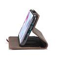 CaseMe CaseMe - Xiaomi Mi Note 10 (Pro) hoesje - Wallet Book Case - Magneetsluiting - Donker Bruin