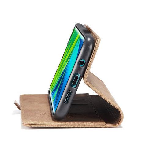 CaseMe CaseMe - Xiaomi Mi Note 10 (Pro) hoesje - Wallet Book Case - Magneetsluiting - Licht Bruin