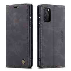 CaseMe - Huawei P40 hoesje - Wallet Book Case - Magneetsluiting - Zwart