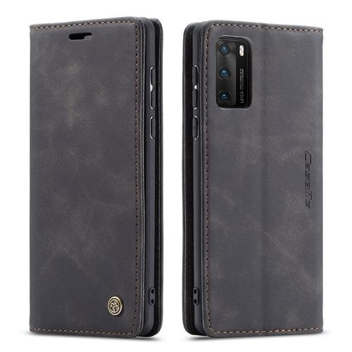 CaseMe CaseMe - Huawei P40 hoesje - Wallet Book Case - Magneetsluiting - Zwart