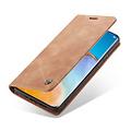 CaseMe CaseMe - Huawei P40 hoesje - Wallet Book Case - Magneetsluiting - Licht Bruin