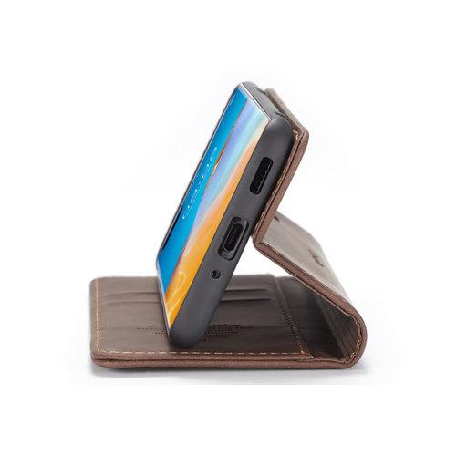 CaseMe CaseMe - Huawei P40 Pro hoesje - Wallet Book Case - Magneetsluiting - Donker Bruin