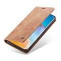 CaseMe CaseMe - Huawei P40 Pro hoesje - Wallet Book Case - Magneetsluiting - Licht Bruin