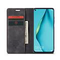 CaseMe CaseMe - Huawei P40 Lite hoesje - Wallet Book Case - Magneetsluiting - Zwart