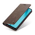 CaseMe CaseMe - Huawei P40 Lite hoesje - Wallet Book Case - Magneetsluiting - Donker Bruin
