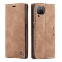 CaseMe - Huawei P40 Lite hoesje - Wallet Book Case - Magneetsluiting - Licht Bruin
