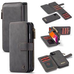 CaseMe - iPhone 11 hoesje - Wallet Book Case met Ritssluiting - Zwart