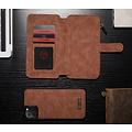 CaseMe CaseMe - iPhone 11 Pro Max hoesje - Wallet Book Case met Ritssluiting - Bruin